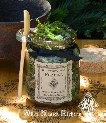 White Magick Alchemy Fortuna Herbal Spell Blend