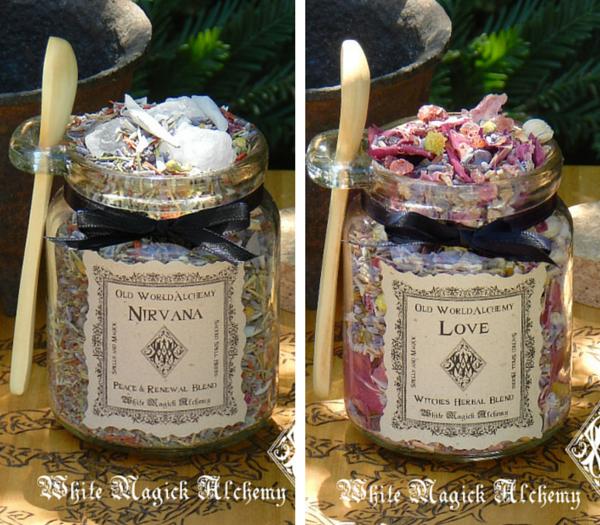 White Magick Alchemy Herbal Spell Blends