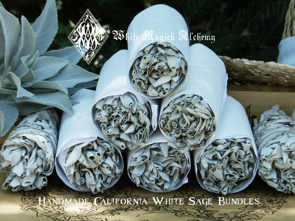 Handmade White Sage Smudge Sticks From White Magick Alchemy