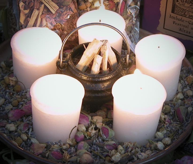 Candle Wheel Imbolc Fire Pagan Wiccan Magic